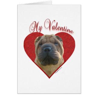 Chinese Shar Pei My Valentine Card