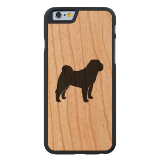 Chinese Shar Pei Silhouette Carved Cherry iPhone 6 Case