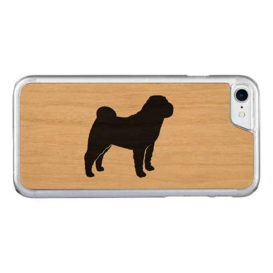 Chinese Shar Pei Silhouette Carved iPhone 7 Case