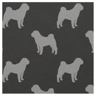 Chinese Shar-Pei Silhouettes Pattern Fabric