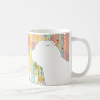 Chinese Shar-Pei Watercolor Stripes Coffee Mug