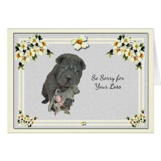 Chinese Shar-Pei with Dogwood Sympathy Card