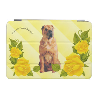 Chinese Shar-Pei with Yellow Roses iPad Mini Cover