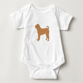 chinese shar silo color baby bodysuit