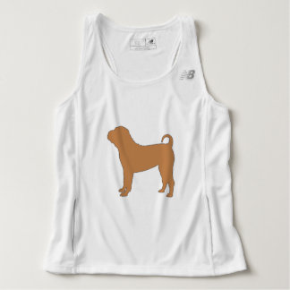chinese shar silo color tank top