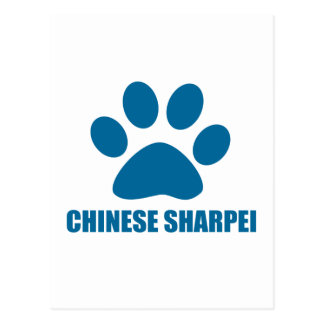 CHINESE SHARPEI DOG DESIGNS POSTCARD