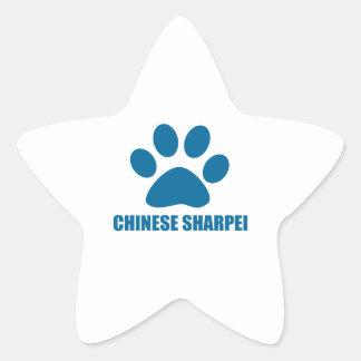 CHINESE SHARPEI DOG DESIGNS STAR STICKER
