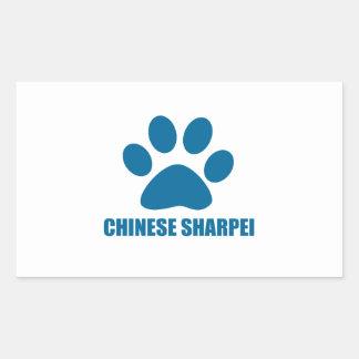 CHINESE SHARPEI DOG DESIGNS STICKER