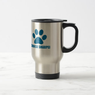 CHINESE SHARPEI DOG DESIGNS TRAVEL MUG