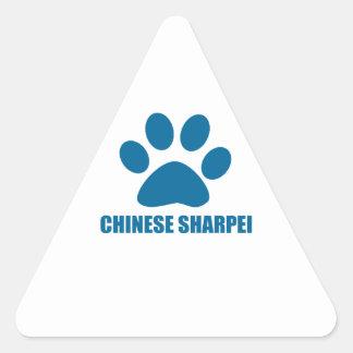 CHINESE SHARPEI DOG DESIGNS TRIANGLE STICKER