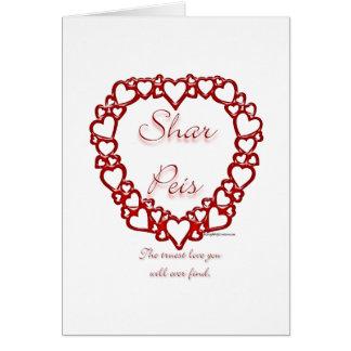 Chinese Sharpei True Love Card
