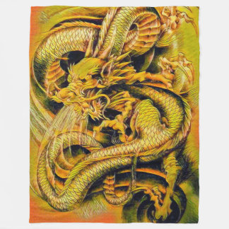 Chinese Soul Eater Dragon Fleece Blanket