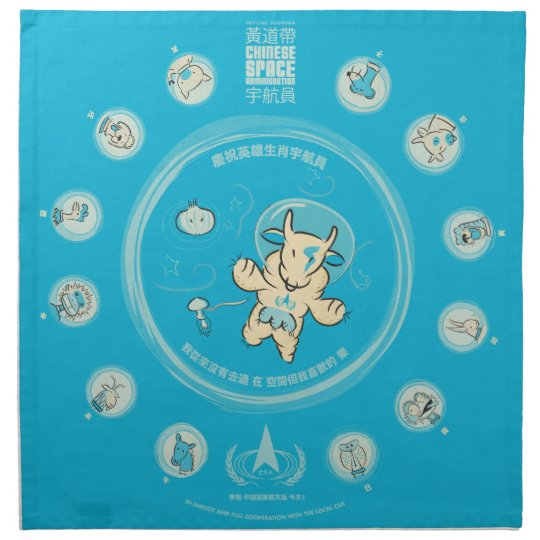 Chinese Space Administration Vintage Napkins (LG)