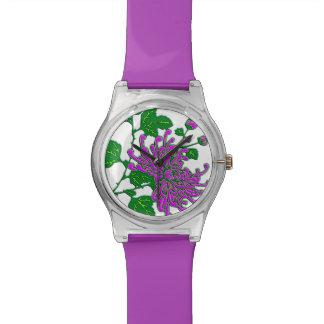 Chinese spider chrysanthemums  - lavender wrist watches