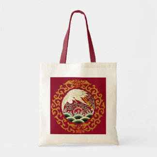 Chinese Stork & Dragon Tote Bag