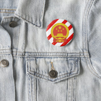 Chinese stripes flag 2 inch round button
