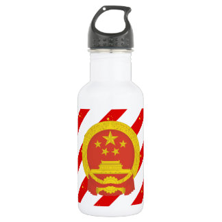 Chinese stripes flag 532 ml water bottle