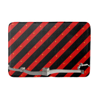 Chinese stripes flag bath mat