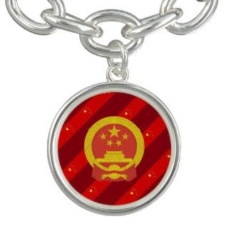 Chinese stripes flag charm bracelet