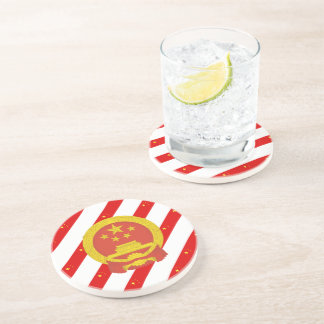 Chinese stripes flag coaster