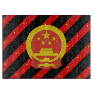Chinese stripes flag cutting board