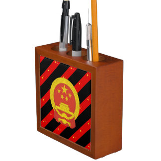 Chinese stripes flag desk organizer
