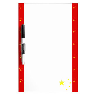 Chinese stripes flag dry erase board