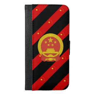 Chinese stripes flag iPhone 6/6s plus wallet case