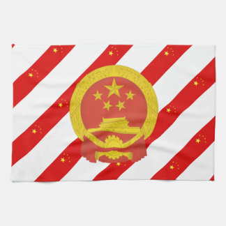 Chinese stripes flag kitchen towel