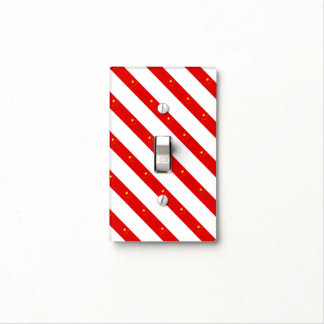 Chinese stripes flag light switch cover
