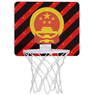 Chinese stripes flag mini basketball hoop