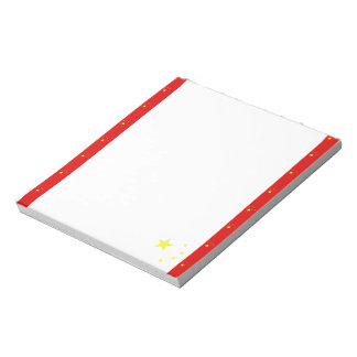 Chinese stripes flag notepad