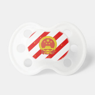 Chinese stripes flag pacifier