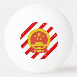 Chinese stripes flag ping pong ball