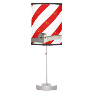 Chinese stripes flag table lamp