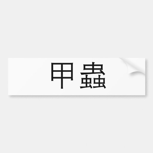 Chinese Symbol for Beetle Bumper Sticker