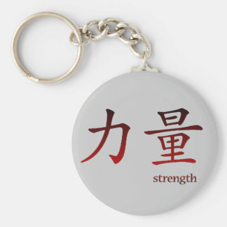 Chinese Symbol for Strength Keychain