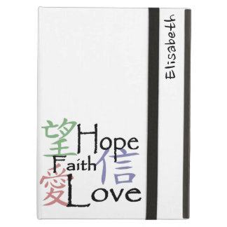 Chinese symbols for love, hope and faith iPad air cover