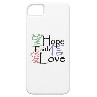 Chinese symbols for love, hope and faith iPhone 5 covers