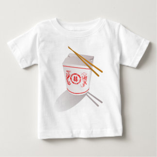 Chinese Take Out Food Box with Chopsticks Baby T-Shirt