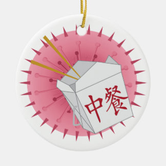 Chinese Take Out - SRF Round Ceramic Ornament