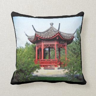 Chinese teahouse throw pillow