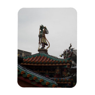 "Chinese Temple Statue 3""x4"" Magnet"