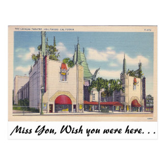 Chinese Theatre, Hollywood, California Postcard
