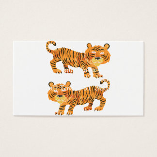 chinese tiger. business card