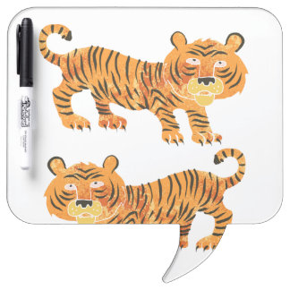 chinese tiger. dry erase whiteboards