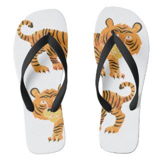 chinese tiger. flip flops