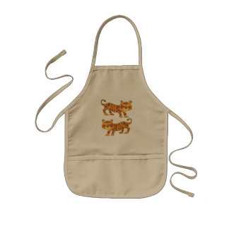 chinese tiger. kids apron