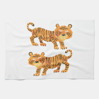 chinese tiger. kitchen towel
