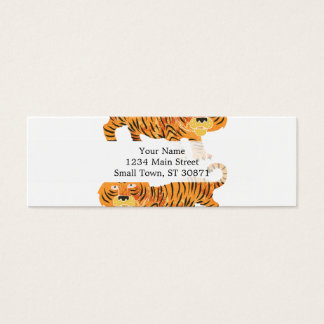 chinese tiger. mini business card
